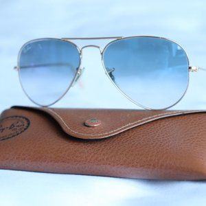 Ray-Ban Blue Gradient Aviators - 55MM